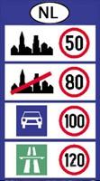 Megengedett sebesség határok Hollandia
